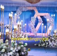 Metal mum düğün ayağı / düğün geçit çiçek standı / düğün dekorasyon olayları için düğün kat centerpices best361