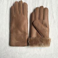 Высокое качество дамы мода повседневная кожаные перчатки тепловые перчатки женские шерстяные перчатки в различных цветах