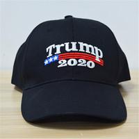 Gorra de bordado Trump 2020 Haga que América sea nuevamente grande Donald Hat Gorra de papá US Republican Ajustable Gorra de béisbol informal