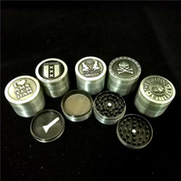 Wholesale 50MM Amsterdam Herb Grinders 4Parts Aluminum Metal...