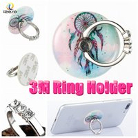Acryl Finger Ring Halter Universal 360 Grad-Drehung Real 3M Kleber Flexible Handy Stände mit Bling Diamond Strass für alle Mobile