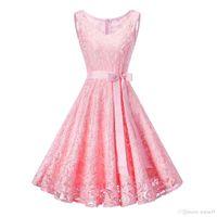 Robes de soirée courtes en dentelle complète ruban Bow Sash col en V sans manches formelle robe de bal demoiselle d'honneur robe robe taille personnalisée