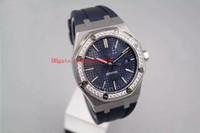 9 Stil Luxus Gute Qualit Uhr N8 Fabrik 41mm Diamant Rand 15400 15400st.OO.OO.O1220St.01 Asien Transparente mechanische automatische Männer Uhren