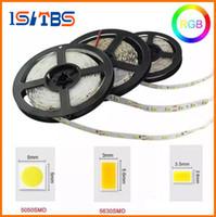 LED Şeritler Işık 5 M 5050 3528 5630 Sıcak Beyaz Kırmızı Yeşil Mavi RGB Esnek 5 M Rulo 300 LED'ler 12 V Açık Şerit Su Geçirmez