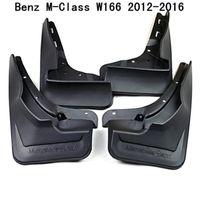 4pcs / set voiture Bavettes garde-boue BOUE Garde-boue Fender pour Benz Classe M Classe M ML W166 2012 2013 2014 2015 2016