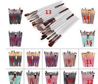 Vente chaude 15 Pcs Professionnel Maquillage Pinceaux Ensemble Fondation Blusher Poudre Fard À Paupières Mélange Sourcil DHL expédition + Cadeau