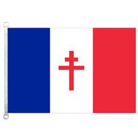 [좋은 국기] 무료 프랑스 깃발 배너 3X5FT-90x150cm 100 % 폴리 에스테르 국기, 110gsm 워프 니트 원단 야외 깃발
