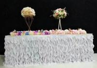 Романтический luxurry мода настольные юбки бегун ткань свадьба длинный стол украшения отель главная банкет партии украшения стола