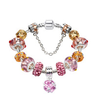Gioielli del braccialetto del braccialetto di DIY della perla rosa per le donne dei monili del braccialetto europeo del braccialetto europeo di stile Pandora