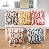 Patrón de geometría Funda de cojín Geométrico Impreso Fundas de almohada Sábanas de algodón Fundas de almohada Sofá Home Decora Cubierta 45x45 cm
