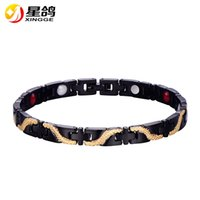 New Design black Health care Bracelet stainless steel Energy...