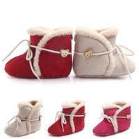 Детская Обувь Теплый Новорожденных Девочек Принцесса Зимние Сапоги Первые Ходунки Мягкой Подошве Младенческой Малышей Дети Девушка Обувь Обувь