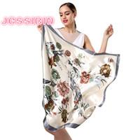 Neue design frau seidenschal 90 * 90cm platz satin schals für kopfhaar seidenhaar zum schlafen rosa leopard hijab schal