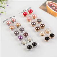 48 pcs / lot Mix Plastique Couleur Broche musulmane Abaya Khimar magnétique Foulard Hijab Pin écharpe Accessoires Boucle