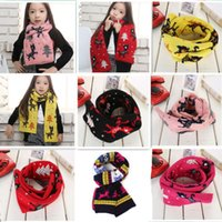 Baby Girl Christmas Deer Printed Knitted Scarf Winter Warm S...