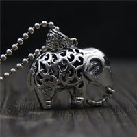 hip hop jewelry 925 sterling silver elephant pendant Vintage...
