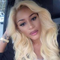 Blonde Human Hair 360 Wigs 613 Body Wave 360 Lace Frontal Wi...