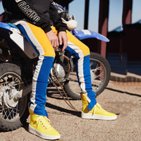 Yaz Pantolon Joggers Parça Pantolon Erkekler Kalem Pantolon Tam Boy Sıska Asetat Kumaş Elastik Bel Fermuar Rahat Aktif Boyut S -2XL