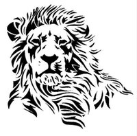 17.2 * 17 CM Wild Mighty Lion Vinilo Pegatinas de Coches Estilo Occidental Tuck Car Body Decal Negro / Plata S1-2600