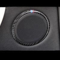 Carbon Car Audio Lautsprecher Autotür Lautsprecher Trim Abdeckung Kreis Aufkleber für BMW 3 4 Serie 3GT F30 F31 F32 F34 Zubehör Styling