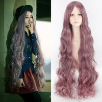 ZF Long Cosplay Perruques de Cosplay 1Meter Purple Cosplay 40 pouces Perruque de cheveux Perruque de cheveux Wave Naturel Soft Soft Charmant Anime