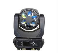 8 piezas Super Beam Led cabeza móvil luz 6x25W 4in1 mini cabeza móvil led rgbw 6 ojos etapa luz del haz