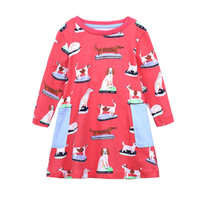 New Style Baby Girl T- shirt Kids Long Sleeve Cartoon Dog Pri...