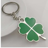 Stainless High Quality Green Leaf Keychain Fashion Creative ...
