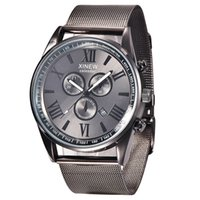 Factory Mens Watches Famous Brand Luxury Black Steel Mesh Ma...
