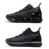 2018 New Kevin Durant 11 XI Twilight Black Gold Splatter Bas...