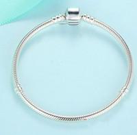 Plata de ley 925 Charm Chain Fit Original pan pulsera brazalete para mujeres joyería auténtica Pulseira regalo