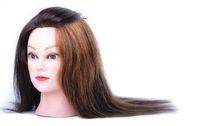 Cabello para peluquería, maniquíes con peluca del cabello humano, maniquí con cabeza de maniquí, cabello nuevo y natural de 2018.