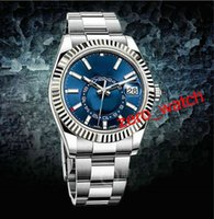 Mens High Quality Luxury AAA brands New style Blue 42mm SKY-...