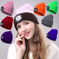 17 Colors LED Light Battery Knitted Hat Type Winter Beanies ...