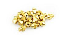 طابعة 3d الطارد النحاس فوهة التدفئة ارتفاع درجة الحرارة المقاومة السلس تدفق 0.3 ملليمتر 0.4 ملليمتر 0.5 ملليمتر 0.6 ملليمتر مطلية بالذهب 6 ملليمتر 3 جرام