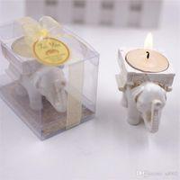 Vintage chanceux éléphant bougies titulaire nouveauté bougie bougie chauffe-plat de mariée douche nuptiale faveurs de fête de candélabre banquet décor 3