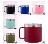 6 Colors 14oz Kid Milk Cup Stainless Steel Cup With Lid Doub...