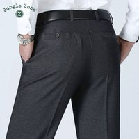 JUNGLE ZONE di grandi dimensioni pantaloni da uomo estate affari uomini vestito convenzionale pantaloni da sposa sposo pantaloni 30 ~ 40 colore grigio e nero
