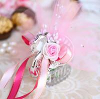 Darmowa Wysyłka Upscale Akrylowe Silver Sman Sweet Love Wedding Gift Candy Favor Boxes Baby Shower Party Favors Holder Sn1248