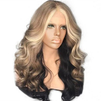 Z&F Wig Blonde Curls 22inch Wig Ombre Blonde Wavy High Quali...
