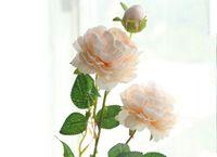 61cm 인공 꽃 장미 실크 Mariage 생일 파티 서양 로즈 웨딩 플라워 Ranunculus Asiaticus 지점 홈 장식