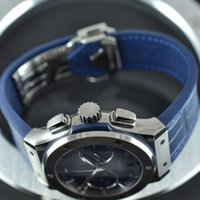 Luxury Brand New All Classic Fashion Blue Chronograph Titani...