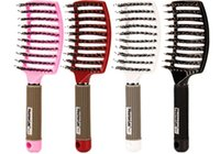 20pcs Capelli Massaggio Combs Salon Antistatico Pennelli curvi Antidati Donne BAGNA Spazzola per capelli Detailtry per parrucchiere per salone Strumenti per lo styling per parrucchieri X099