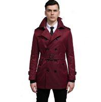 الربيع والخريف جديد مصمم سليم مثير خندق معطف الرجال معطف طويل الأكمام الرجال ملابس الموضة قميص casaco masculino