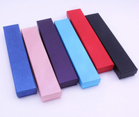 Nuevos colores sólidos elegantes 21.5 * 4 * Pulsera de collar de 2,5 cm Pantalla de almacenamiento Caja de regalo de joyería Caja de embalaje