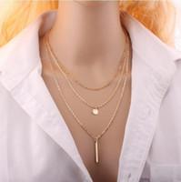 새로운 도착 매력 쥬얼리 여성 목걸이 펑크 스타일 펜던트 구리 비즈 다층 목걸이 2colors 황금 실버 neckwear