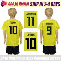 Camiseta infantil de Colombia 2018 Copa del Mundo infantil Colombia kit de  fútbol 18 19 niños c6dfa88a6a61a