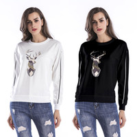 BOFUTE New Women' s Clothing Printing O- Neck Sweatshirt ...