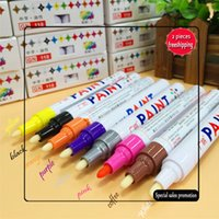 2017 8 Colors Universal Waterproof Permanent Paint Auto Car Tire Tyre Marker Pen Tread Rubber Metal Free Shipping