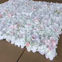 6pcs Artificial White Rose Hydrangea Peony Flower Wall Weddi...